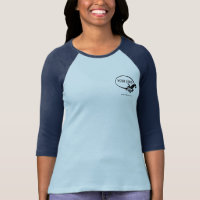 Custom Women's Raglan Baseball Jersey Logo Branded T-Shirt