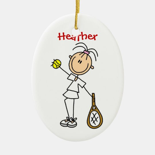 Custom Womens Tennis Christmas Ornament