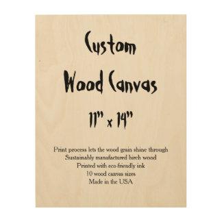 "Custom Wood Canvas - 11"" x 14"" vertical"