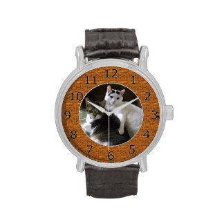 Custom Wood Circle Frame Template For Your Own Pic Wrist Watch