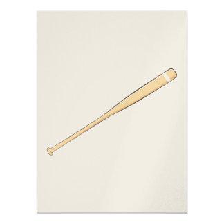 Custom Wooden Baseball Softball Bat Invitations