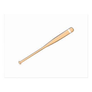 Custom Wooden Baseball Softball Bat Invitations Postcard