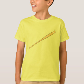 Custom Wooden Baseball Softball Bat Kids Jersey T-Shirt