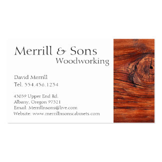 Custom Woodworking Cabinets Double-Sided Standard Business Cards (Pack Of 100)