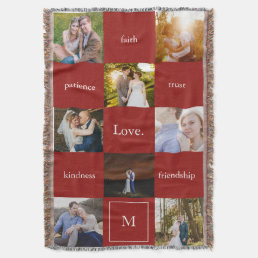 Custom Words and Photos Meaningful Gift Blanket