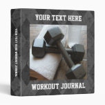 Custom Workout Journal, Exercise Schedule Book Binder