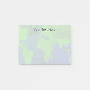 World Map Watermark.Vintage World Map Post It Notes Zazzle