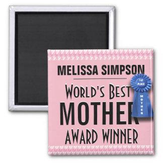 Custom World's Best Mother Award Ribbon Magnet