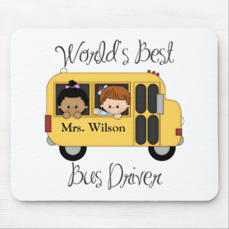 Custom Worlds Best School Bus Driver Mouse Pad