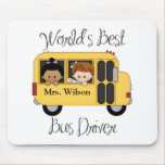 Custom Worlds Best School Bus Driver Mouse Pads