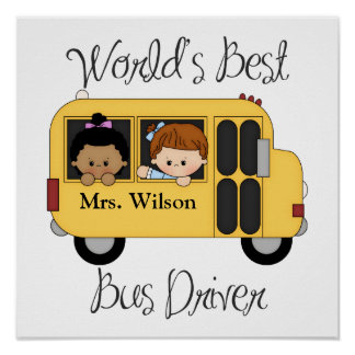 Custom Worlds Best School Bus Driver Poster