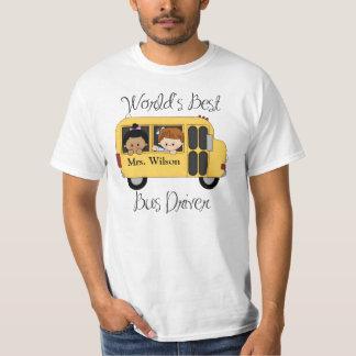 Custom Worlds Best School Bus Driver T-Shirt