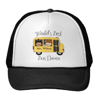 Custom Worlds Best School Bus Driver Trucker Hat