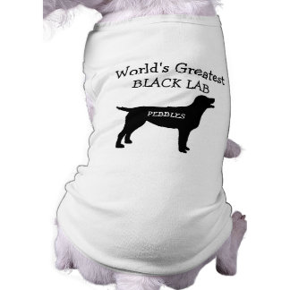 Custom Worlds Greatest Black Lab Doggie T Shirt