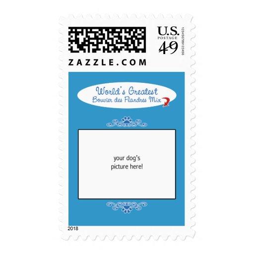 Custom Worlds Greatest Bouvier des Flandres Mix Stamps