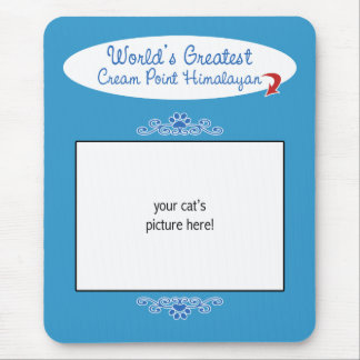 Custom Worlds Greatest Cream Point Himalayan Mouse Pad