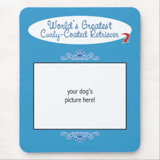 Custom Worlds Greatest Curly-Coated Retriever Mouse Pad