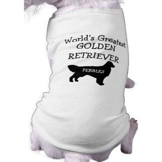 Custom Worlds Greatest Golden Retriever Doggie Tee Shirt