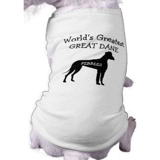 Custom Worlds Greatest Great Dane Pet T-shirt