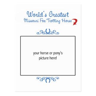Custom Worlds Greatest Missouri Fox Trotting Horse Postcard
