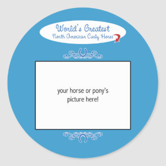 Custom Worlds Greatest North American Curly Horse Classic Round Sticker