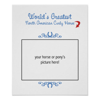 Custom Worlds Greatest North American Curly Horse Poster