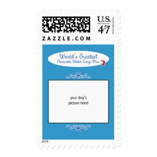 Custom Worlds Greatest Pembroke Welsh Corgi Mix Stamp