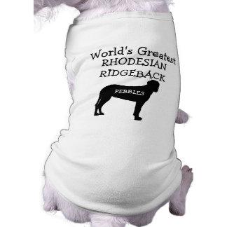 Custom Worlds Greatest Rhodesian Ridgeback Dog Tee