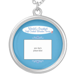 Custom Worlds Greatest Soft Coated Wheaten Terrier Silver Plated Necklace