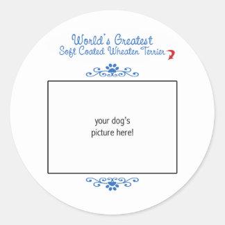 Custom Worlds Greatest Soft Coated Wheaten Terrier Round Sticker