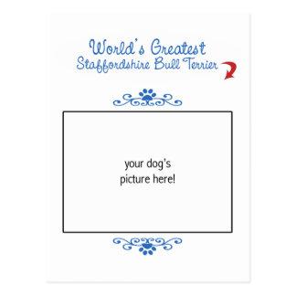 Custom Worlds Greatest Staffordshire Bull Terrier Postcard