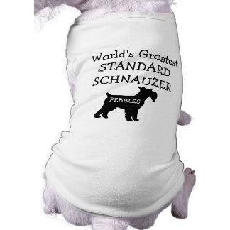 Custom Worlds Greatest Standard Schnauzer Doggie Tshirt
