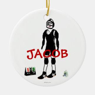 Custom Wrestling Cartoon Christmas Ornaments