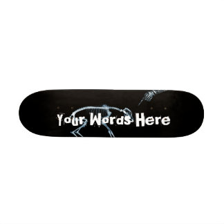 Custom X-Ray Skeleton Bad Dog Blue Boards Skateboard Deck