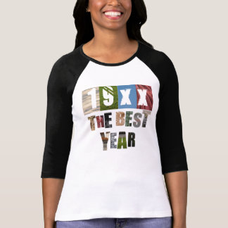 Custom Year 19XX The Best Year Collage Style T-Shirt