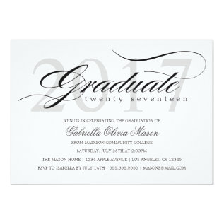 Custom Year Elegant Graduate | Graduation Party Card at Zazzle