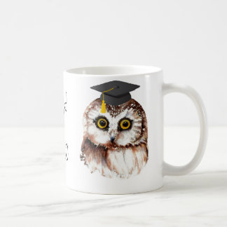 Custom Year Graduation Fun Wise Owl Coffee Mug