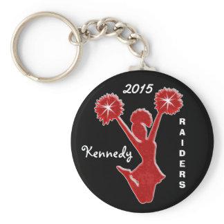 Custom YEAR, NAME and TEAM Cheap Cheer Keychains
