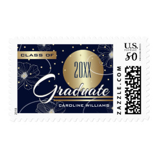 Custom Year & Name Graduation Postage Stamps