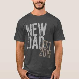 Custom Year New Dad Grunge Father's Day T-Shirt