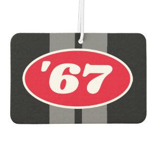 Custom Year Racing Stripes Logo Hot Rod Muscle Car Air Freshener