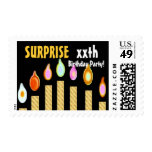 CUSTOM YEAR SURPRISE Birthday Party Stamp -  GOLD