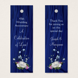 Custom Year White Rose Anniversary Party Tag