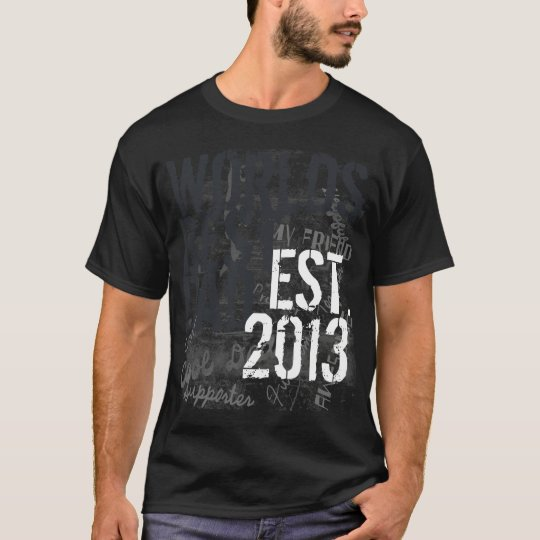 Custom Year World's Best Dad Grunge Father's Day T-Shirt