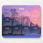 Custom Yearly Calendar 2015 Mouse Pads Winter