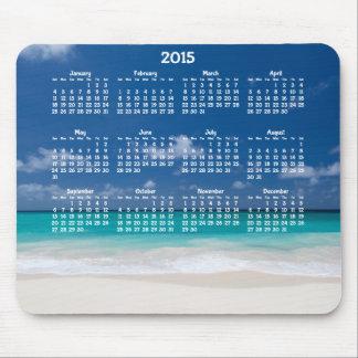 Custom Yearly Calendar 2015 Mousepads Beach
