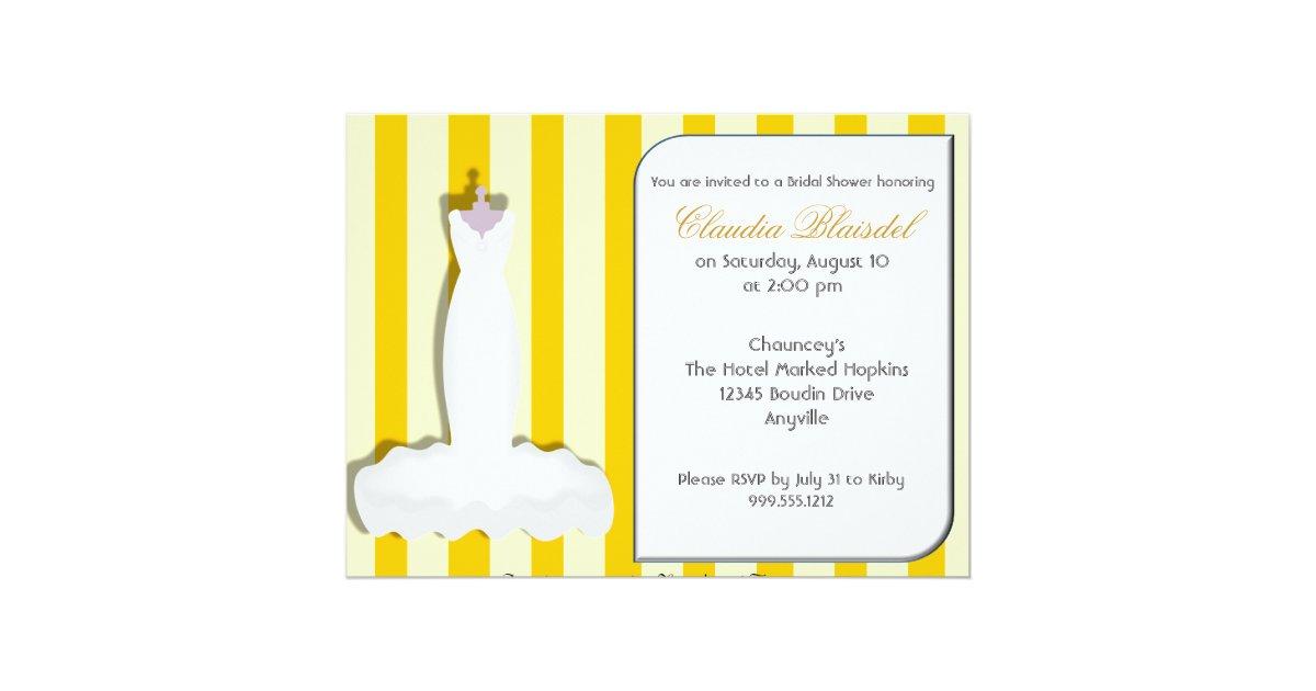 Custom yellow bridal shower invitations zazzle for Yellow bridal shower invitations