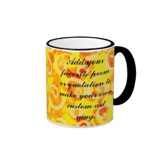 Custom Yellow Swirls Artwork Mug