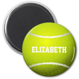 Custom Yellow Tennis Ball 2 Inch Round Magnet
