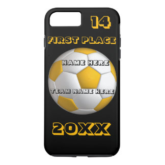 Custom yellow text soccer cover